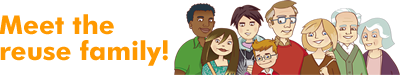 Meet The Reuse Family! Logo (Click To Open Website In A New Browser)